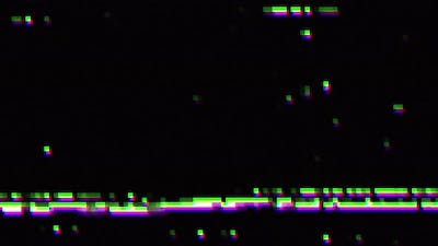 Digital glitch and static television noise effects, visual effect of VHS defects and noise