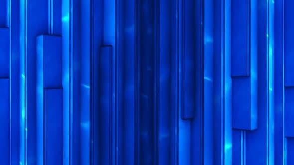 Blue Rotating Rectangles