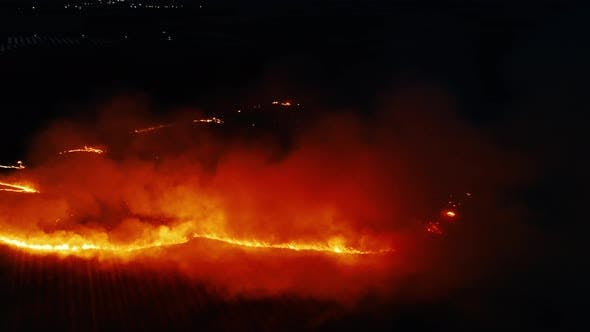 Burning Fields With Stubble