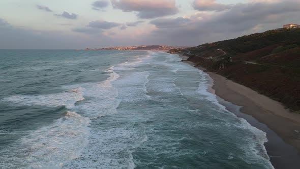 Ocean Foamy White Texture