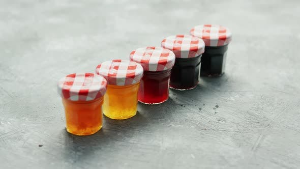 Thumbnail for Small Cups with Different Marmalade