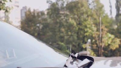 Girl Driver in Car