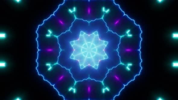 Electric Neon Flower Effects 4K Loop