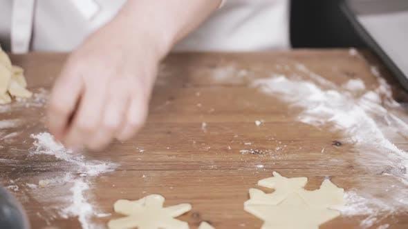Backen Weihnachten Zucker Kekse für Santa.