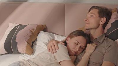 Girlfriend Sleeping on Chest of Man