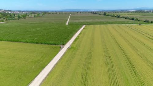 Flying Over Agricultural Fields