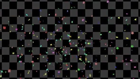 Confetti Colorful 5 Clip 4K