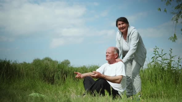 Thumbnail for Sports Life, Elderly Married Couple Leads an Active Lifestyle Takes Care of His Health Practices