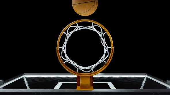 Thumbnail for Basketball Hit the Basket in Slow Motion
