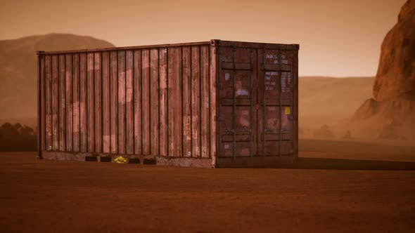Thumbnail for Abandoned Shipping Container in the Desert