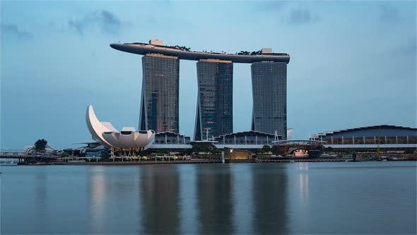 The Marina Bay Sands from Day to Night