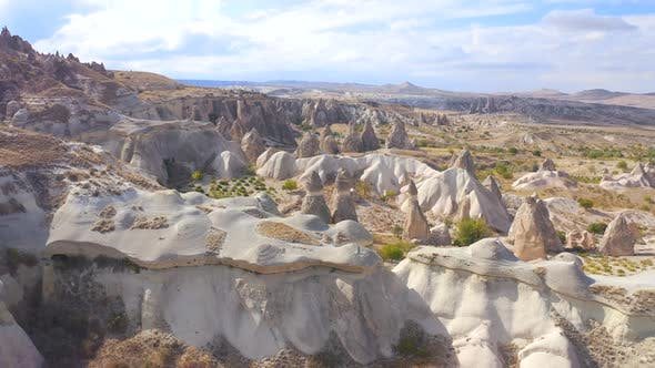 Aerial View Fairy Chimneys at Pasabag Valley Area Cappadocia Turkey