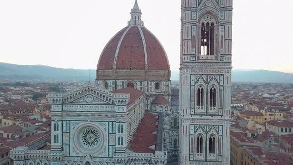 Thumbnail for Aerial View on the City and Cathedral of Santa Maria Del Fiore. Florence, Tuscany, Italy
