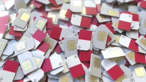 Thumbnail for Many SIM Cards with Flag of Malta