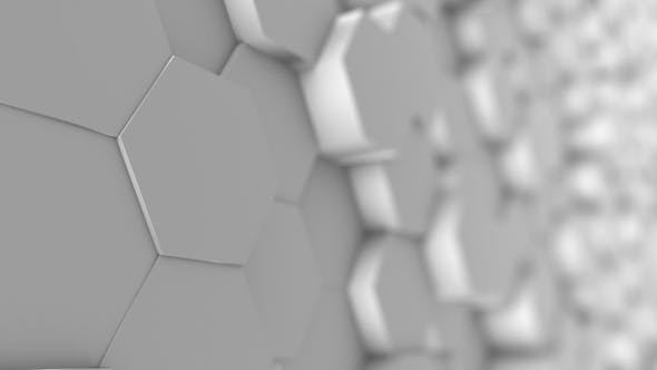 Thumbnail for White Honeycomb Style Clean Hexagonal Background