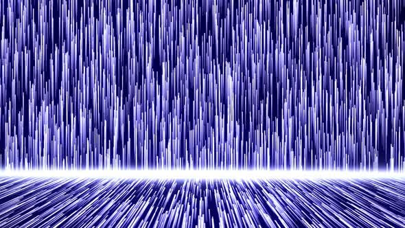 Blue Glow Lines Structure And Particle Flow