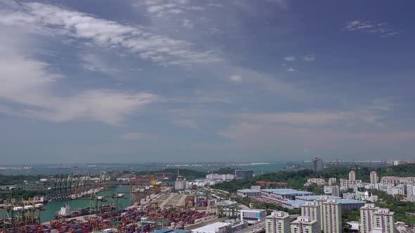 Thumbnail for Aerial View to the Port of Singapore