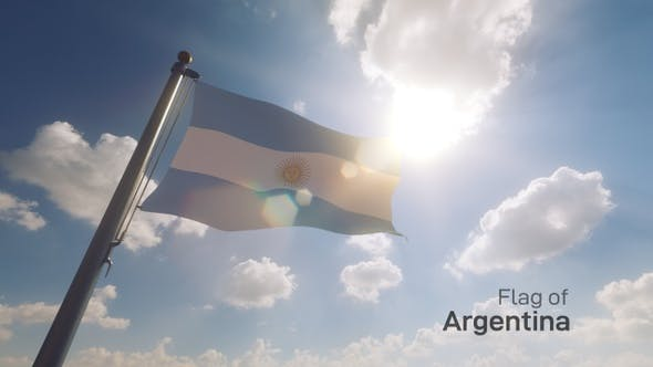 Thumbnail for Argentina Flag on a Flagpole V2