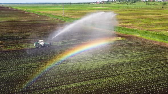 Irrigation System on Agricultural Land.