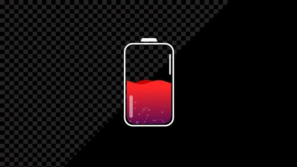 Thumbnail for Phone Battery Charge Status Symbol