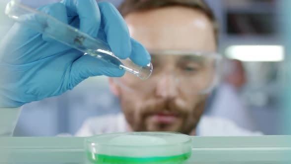 Thumbnail for Researcher Carrying out Scientific Experiment in Lab