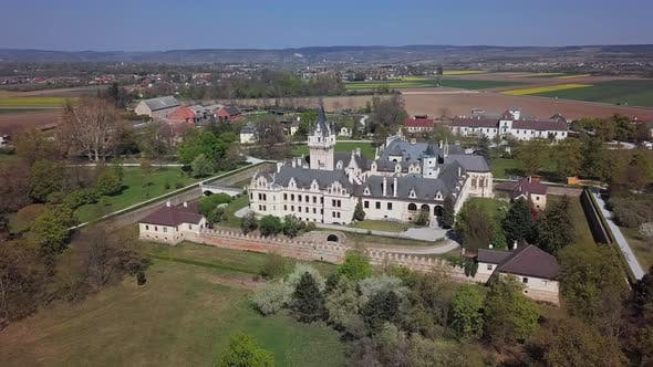 Cover Image for Aerial View of Grafenegg Castle, Austria