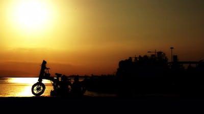 People Silhouette Near The Seaside 7