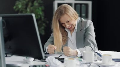 Angry Woman at Workplace