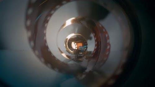 Camera Pans Through Filmstrip