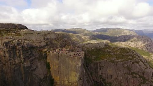 Aerial view of the Pulpit Rock, Norway
