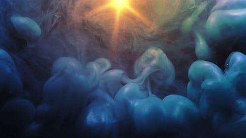 Illuminated Clouds Effect Sunlight Blue Sky
