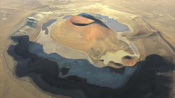 Volcanic Crater Lake of Maar and Caldera in Earth Bedrock Geology