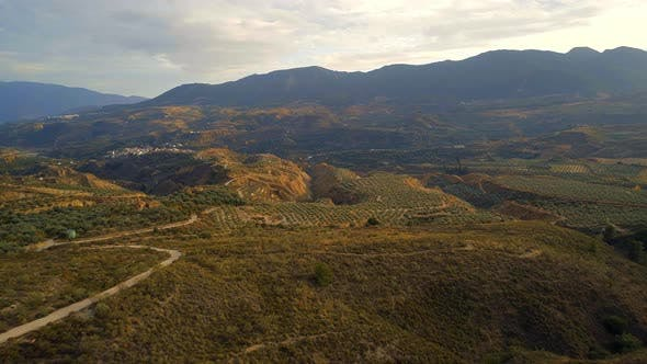Thumbnail for Agricultural Landscape in Spain Aerial Flyover