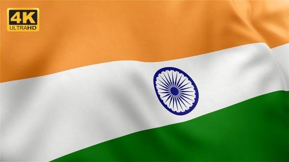 Thumbnail for Flag of India - 4K