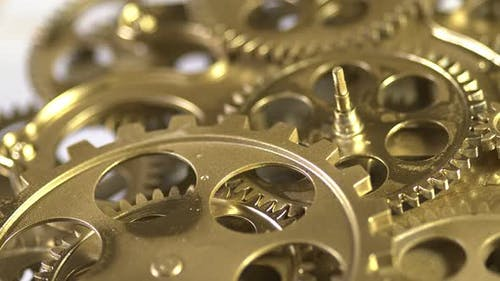 Working Golden Gears With Cogs In Action 2