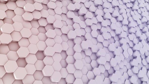Arrière-plan coloré hexagone