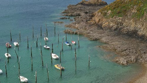 The traditional harbour of Gwin Zegal at Plouha, Cotes d Armor department, Brittany in France
