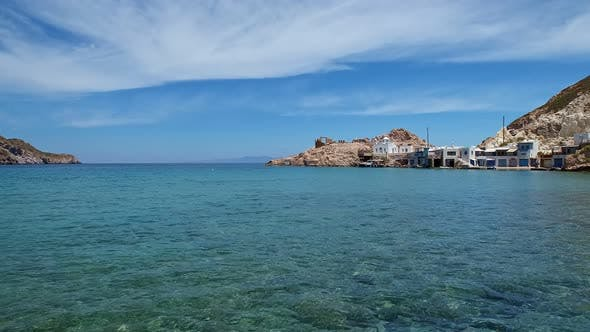 Thumbnail for Typical Small Fishermen' Village on Milos Island, Greece - Panning