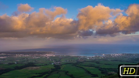 Thumbnail for Evening Panorama on Terceira Island