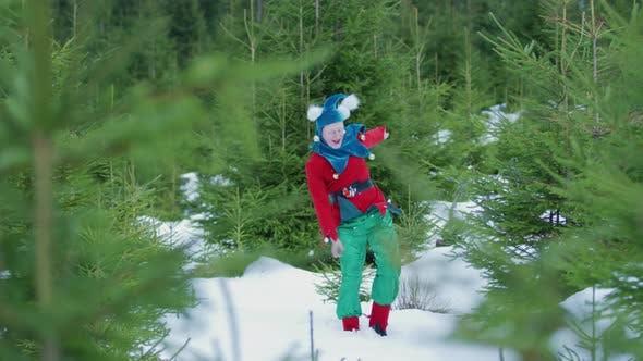 Thumbnail for Christmas elf jumping