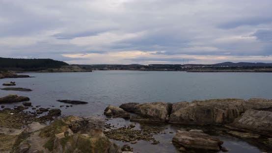 Thumbnail for Rocks And Sea Aerial Hyperlapse
