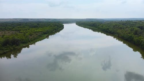 Big River View From a Height