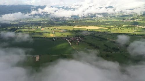 Misty Mountains and countryside