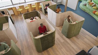 Top View of Workers in Start-Up Office