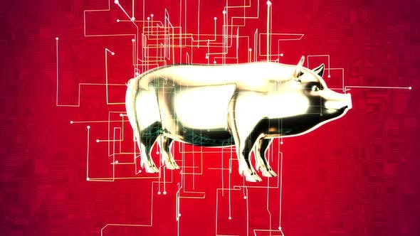 Abstract animation of an agriculture concept on the grid