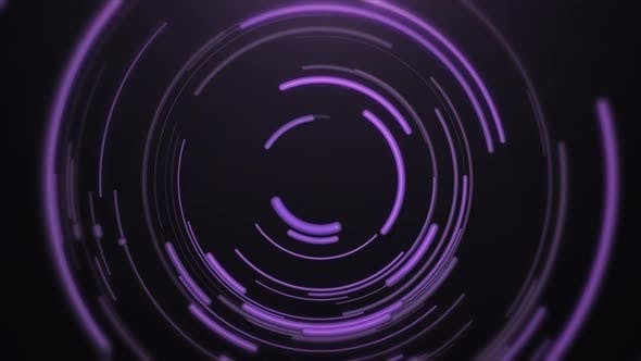 Thumbnail for Abstract Baloon Style Rounded Purple Lines