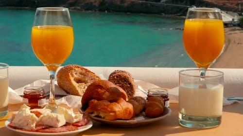 Delicious Breakfast in a Mediterranean Island