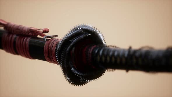 Thumbnail for Asian Katana with Ornament Sward on Bright Background