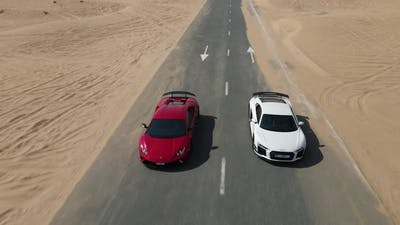 Sport Cars on the Toad