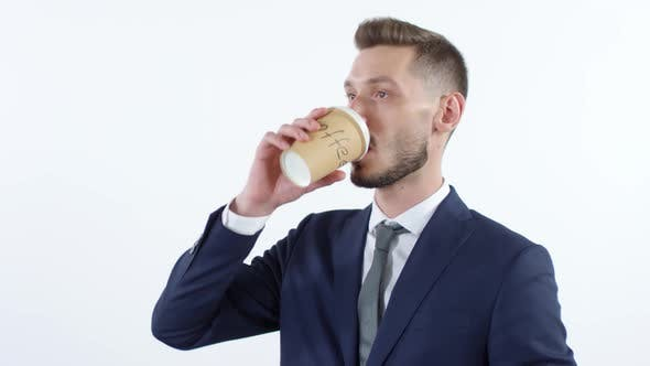 Thumbnail for Businessman Drinking Coffee